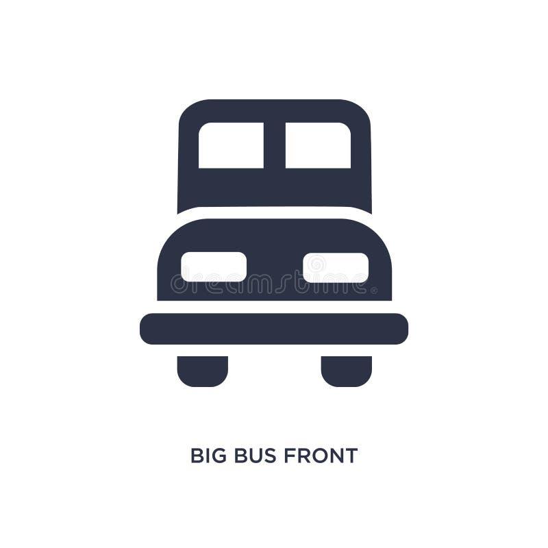 значок большого автобуса передний на белой предпосылке Простая иллюстрация элемента от концепции mechanicons бесплатная иллюстрация