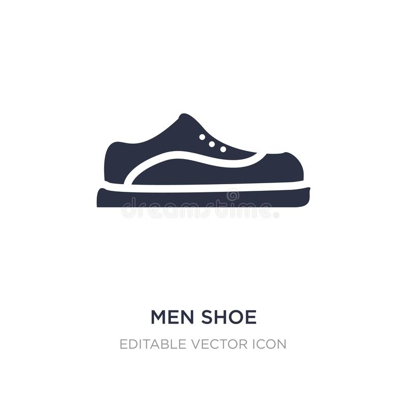 Значок ботинка людей на белой предпосылке Простая иллюстрация элемента от концепции моды иллюстрация штока