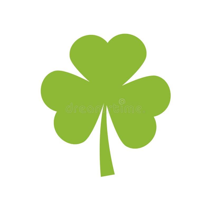 Значок вектора клевера shamrock Клевер значка вектора дня St. Patrick , плоский значок вектора также вектор иллюстрации притяжки  иллюстрация штока