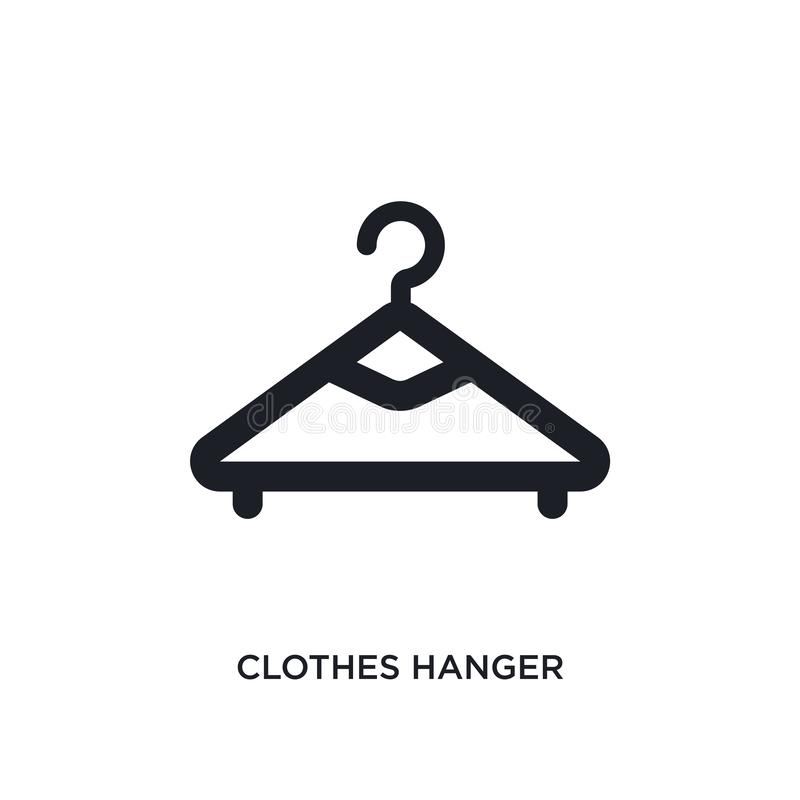 значок вешалки одежд изолированный простая иллюстрация элемента от значков концепции гигиены символ знака логотипа вешалки одежд  иллюстрация вектора