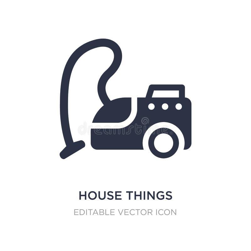 значок вещей дома на белой предпосылке Простая иллюстрация элемента от концепции инструментов и утварей бесплатная иллюстрация