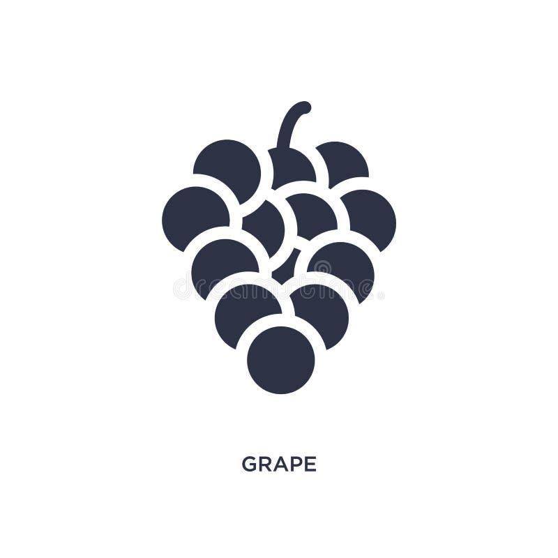 Значок виноградины на белой предпосылке Простая иллюстрация элемента от концепции плодов иллюстрация вектора
