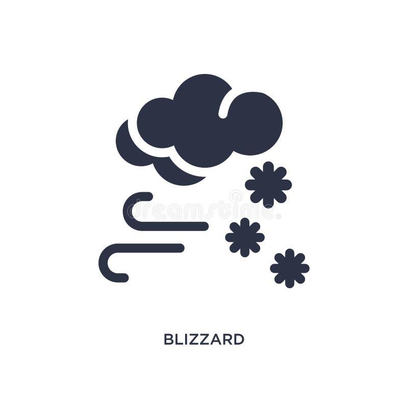 значок вьюги на белой предпосылке Простая иллюстрация элемента от концепции погоды иллюстрация вектора