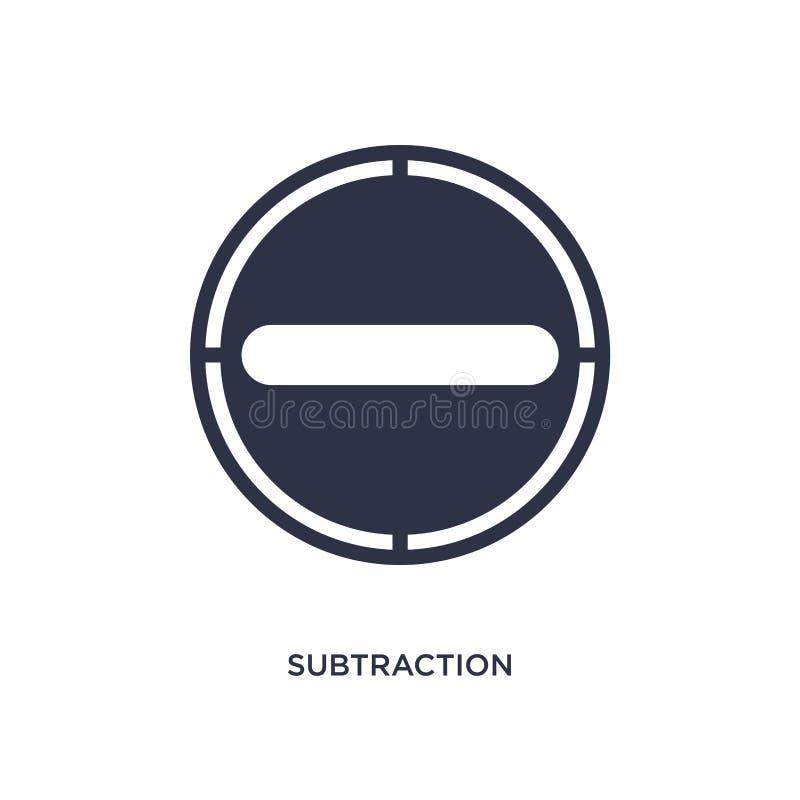 значок вычитания на белой предпосылке Простая иллюстрация элемента от концепции пользовательского интерфейса бесплатная иллюстрация
