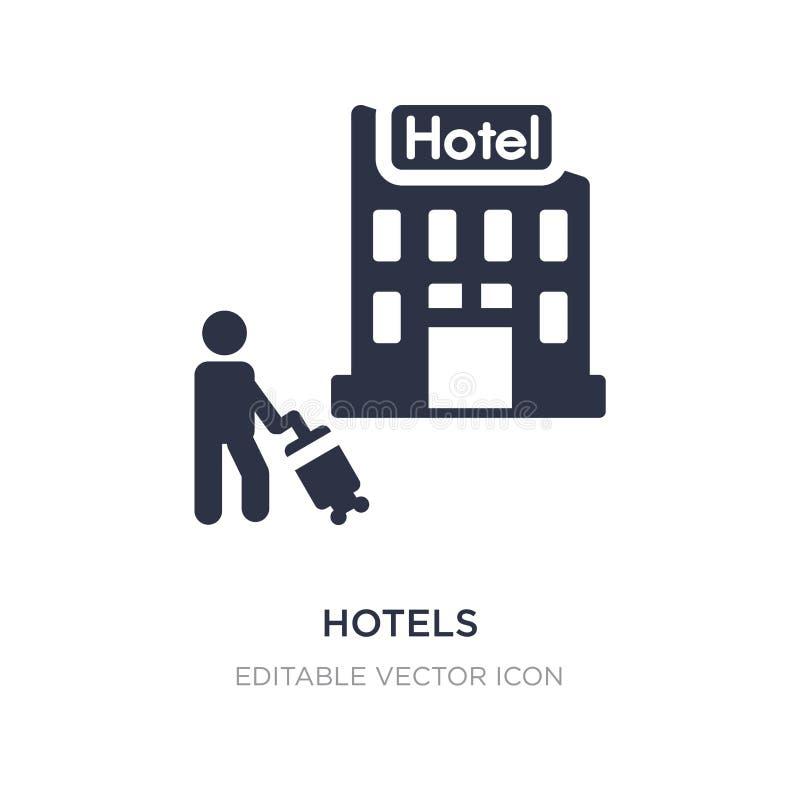 значок гостиниц на белой предпосылке Простая иллюстрация элемента от концепции праздников иллюстрация вектора