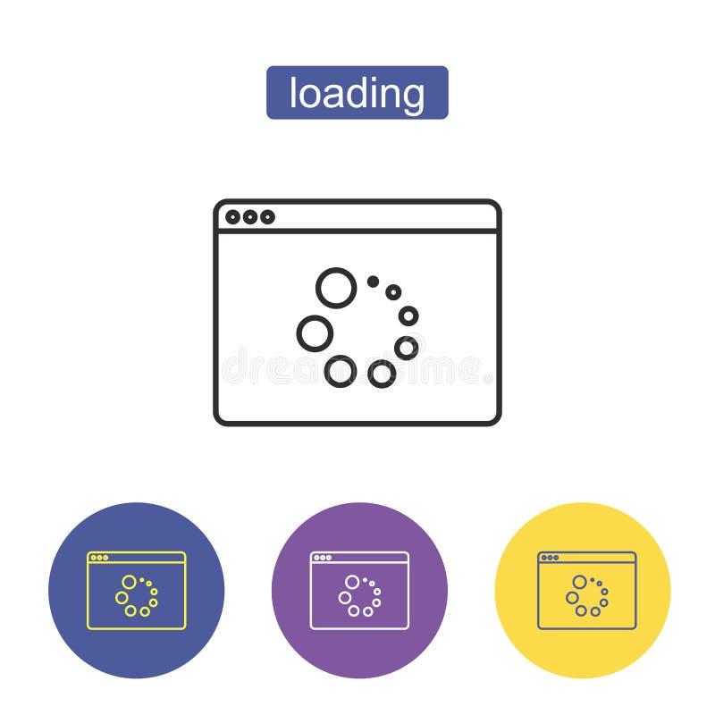 Значок загрузки икона освежает иллюстрация штока