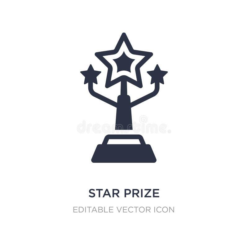 значок звезды призовой на белой предпосылке Простая иллюстрация элемента от другой концепции иллюстрация вектора