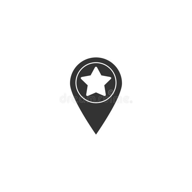 Значок звезды прицельный в простом дизайне также вектор иллюстрации притяжки corel бесплатная иллюстрация