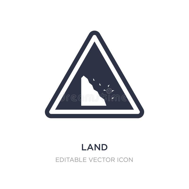 значок земли на белой предпосылке Простая иллюстрация элемента от концепции сети иллюстрация вектора