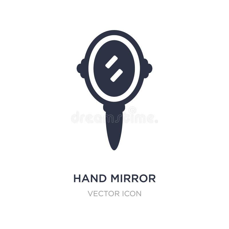 значок зеркала руки на белой предпосылке Простая иллюстрация элемента от концепции красоты иллюстрация вектора