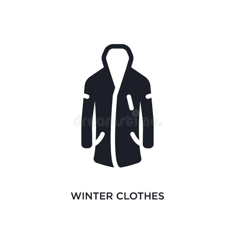 значок зимы изолированный одеждами простая иллюстрация элемента от значков концепции зимы символ знака логотипа одежд зимы editab бесплатная иллюстрация
