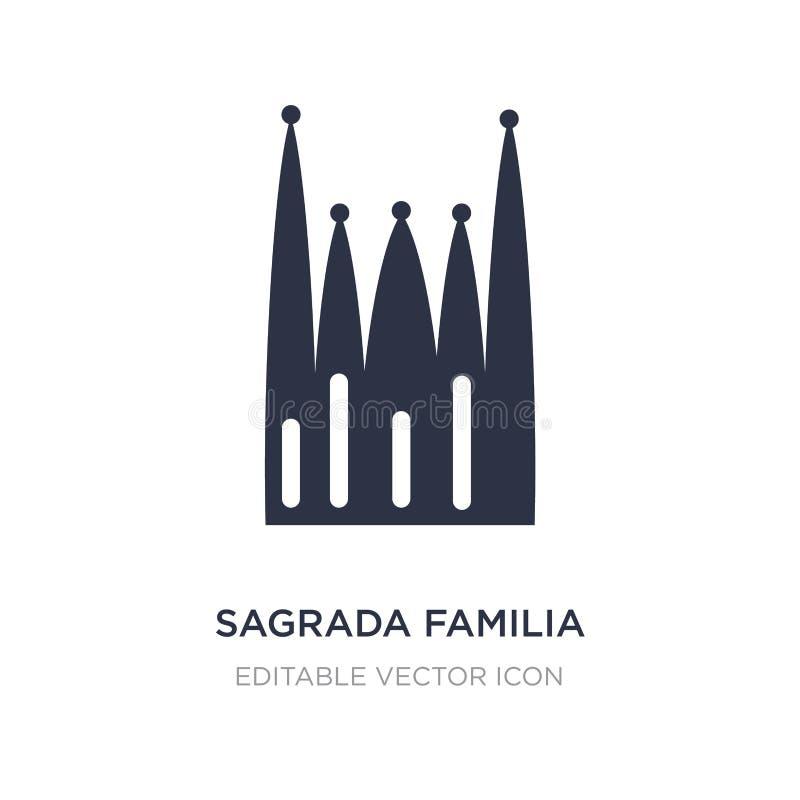 значок здания familia sagrada на белой предпосылке Простая иллюстрация элемента от концепции памятников иллюстрация вектора