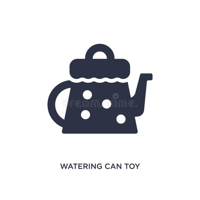 значок игрушки моча консервной банки на белой предпосылке Простая иллюстрация элемента от концепции игрушек бесплатная иллюстрация