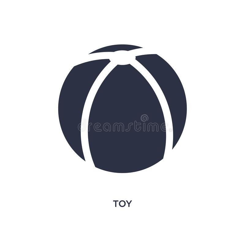 значок игрушки на белой предпосылке Простая иллюстрация элемента от детей и концепции младенца иллюстрация штока