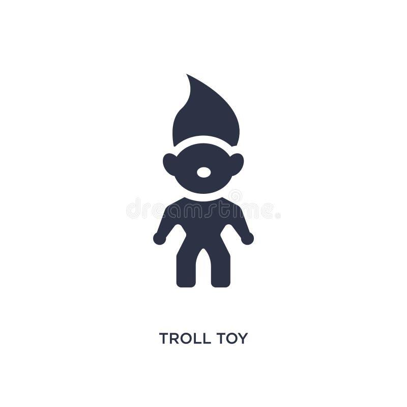 значок игрушки тролля на белой предпосылке Простая иллюстрация элемента от концепции игрушек иллюстрация вектора