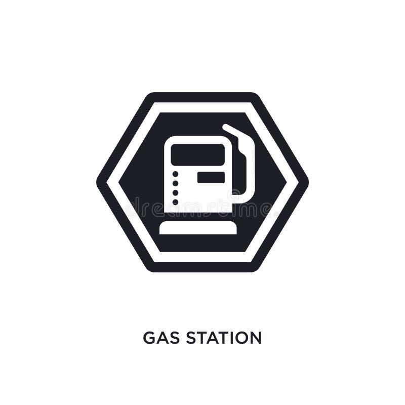 значок изолированный бензоколонкой простая иллюстрация элемента от значков концепции знаков дизайн символа знака логотипа бензоко иллюстрация штока