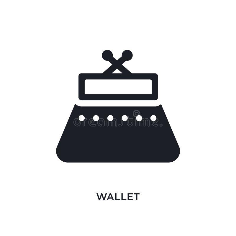 значок изолированный бумажником простая иллюстрация элемента от значков концепции одежды женщины дизайн символа знака логотипа бу бесплатная иллюстрация