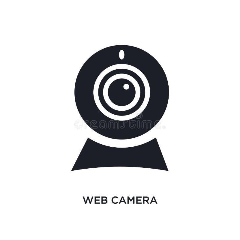 Значок изолированный веб-камера простая иллюстрация элемента от electrian значков концепции соединений знак логотипа веб-камеры e иллюстрация штока