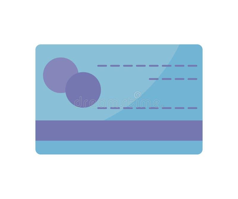Значок изолированный кредитной карточкой бесплатная иллюстрация