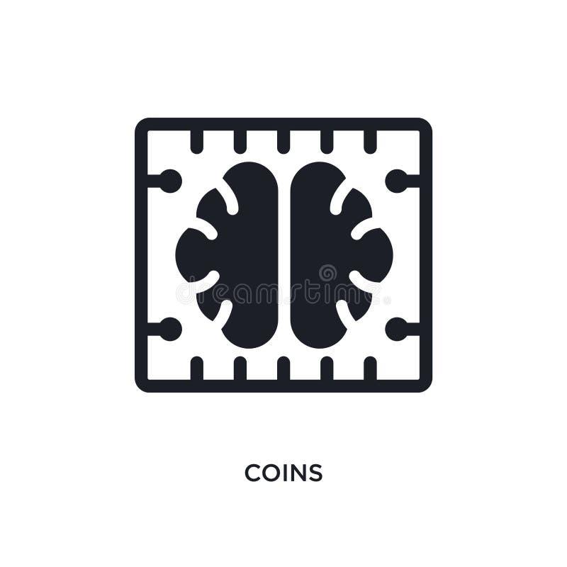 значок изолированный монетками простая иллюстрация элемента от значков концепции искусственного интеллекта символ знака логотипа  иллюстрация штока