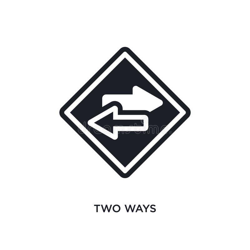 2 значок изолированный путями простая иллюстрация элемента от значков концепции дорожных знаков дизайн символа знака логотипа 2 п иллюстрация вектора