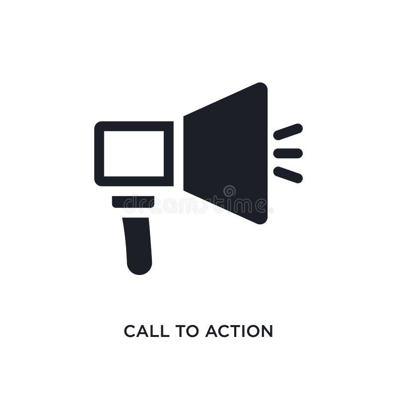 значок изолированный призывом к действию простая иллюстрация элемента от значков концепции технологии символ знака логотипа призы иллюстрация вектора