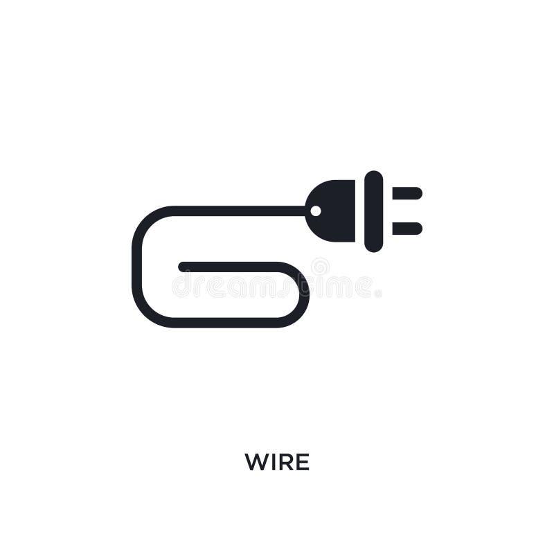 значок изолированный проводом простая иллюстрация элемента от electrian значков концепции соединений дизайн символа знака логотип бесплатная иллюстрация