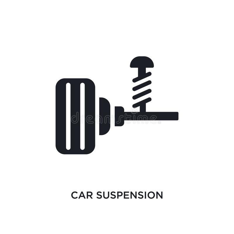 значок изолированный подвеской гондолы простая иллюстрация элемента от значков концепции частей автомобиля символ знака логотипа  иллюстрация штока