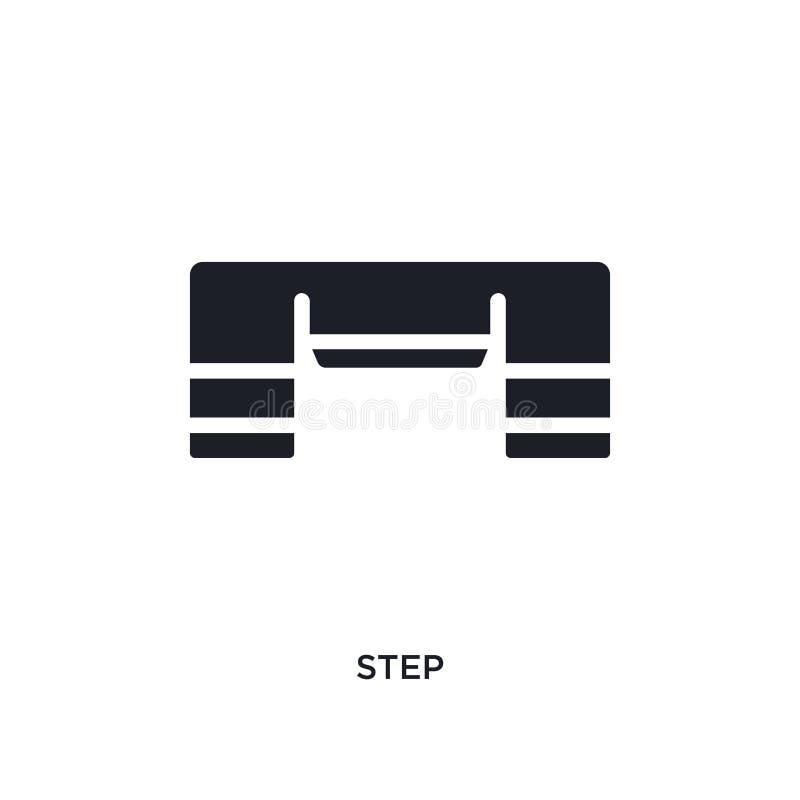 значок изолированный шагом простая иллюстрация элемента от значков концепции оборудования спортзала дизайн символа знака логотипа бесплатная иллюстрация