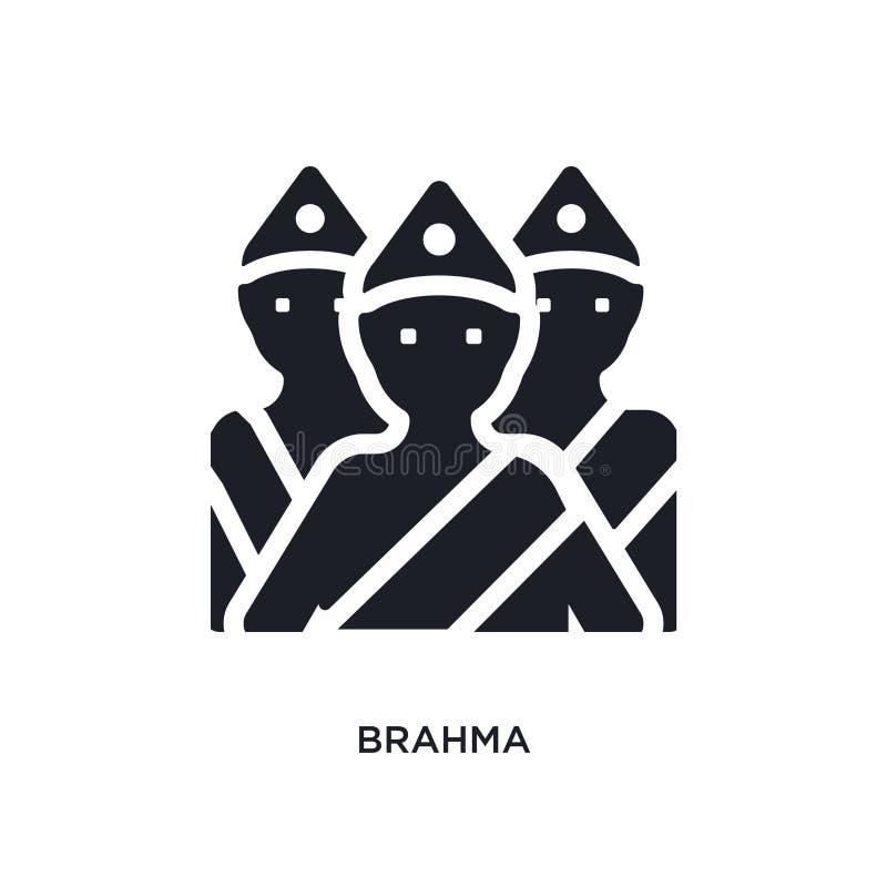 значок изолированный brahma простая иллюстрация элемента от значков концепции Индии дизайн символа знака логотипа brahma editable бесплатная иллюстрация