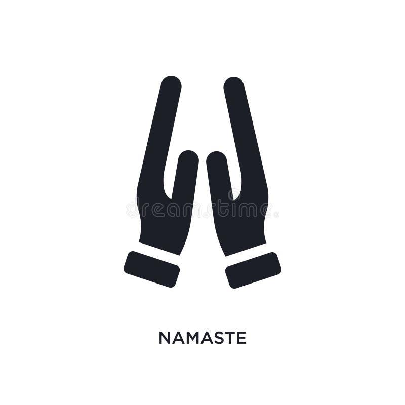 значок изолированный namaste простая иллюстрация элемента от значков концепции Индии и holi дизайн символа знака логотипа namaste иллюстрация вектора