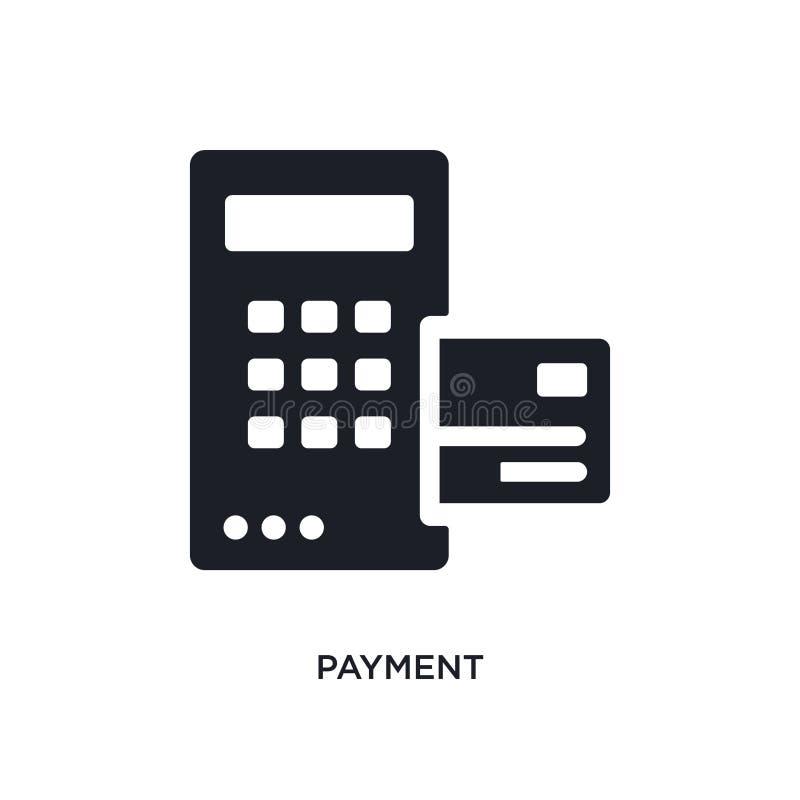 значок изолированный оплатой простая иллюстрация элемента от значков концепции дизайн символа знака логотипа оплаты editable на б бесплатная иллюстрация
