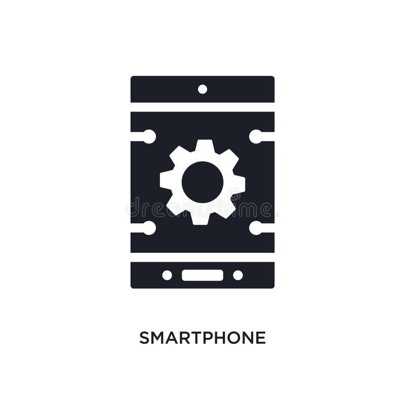 Значок изолированный Smartphone простая иллюстрация элемента от значков концепции искусственного интеллекта знак логотипа смартфо бесплатная иллюстрация