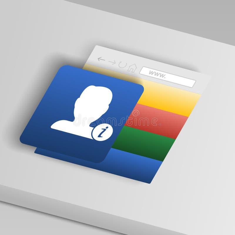 Значок информации о возможностях контактов От значков кнопки собрания иллюстрация штока