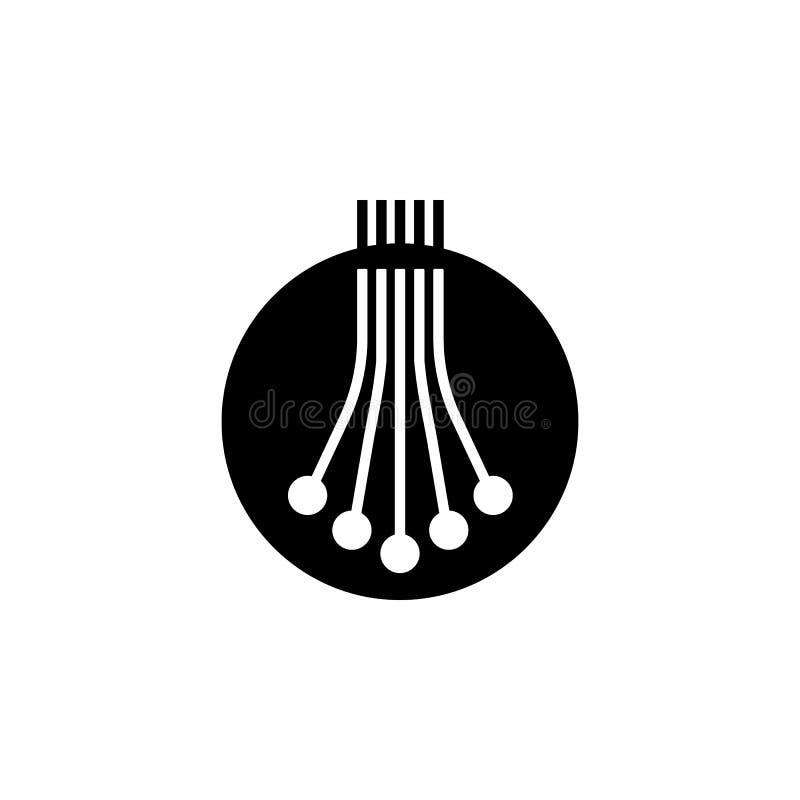 значок кабеля оптического волокна Элемент значка доступа в интернет Наградной качественный значок графического дизайна знаки и со иллюстрация вектора