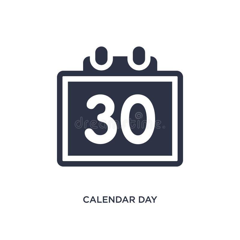 значок календарного дня 30 на белой предпосылке Простая иллюстрация элемента от концепции крупного аэропорта бесплатная иллюстрация