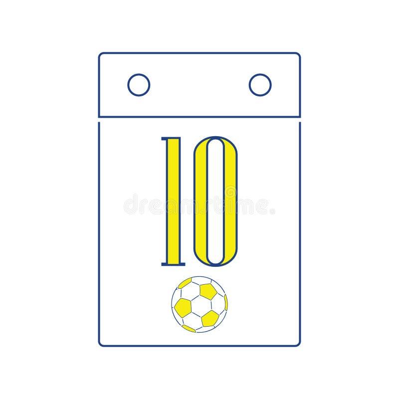 Значок календаря футбола бесплатная иллюстрация