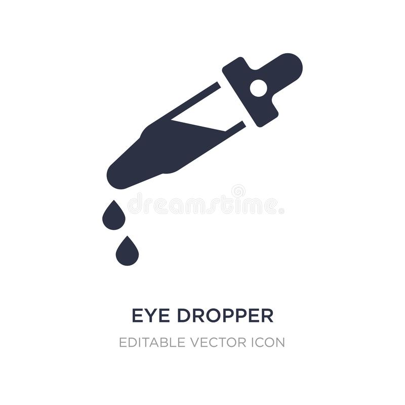 Значок капельницы глаза на белой предпосылке Простая иллюстрация элемента от медицинской концепции иллюстрация штока