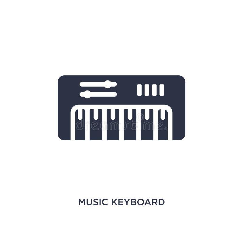 значок клавиатуры музыки на белой предпосылке Простая иллюстрация элемента от концепции музыки бесплатная иллюстрация