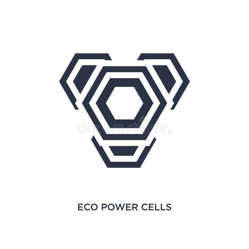 значок клеток силы eco на белой предпосылке Простая иллюстрация элемента от концепции экологичности иллюстрация вектора