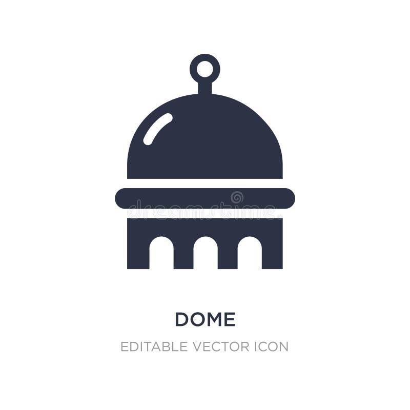 значок купола на белой предпосылке Простая иллюстрация элемента от концепции зданий бесплатная иллюстрация