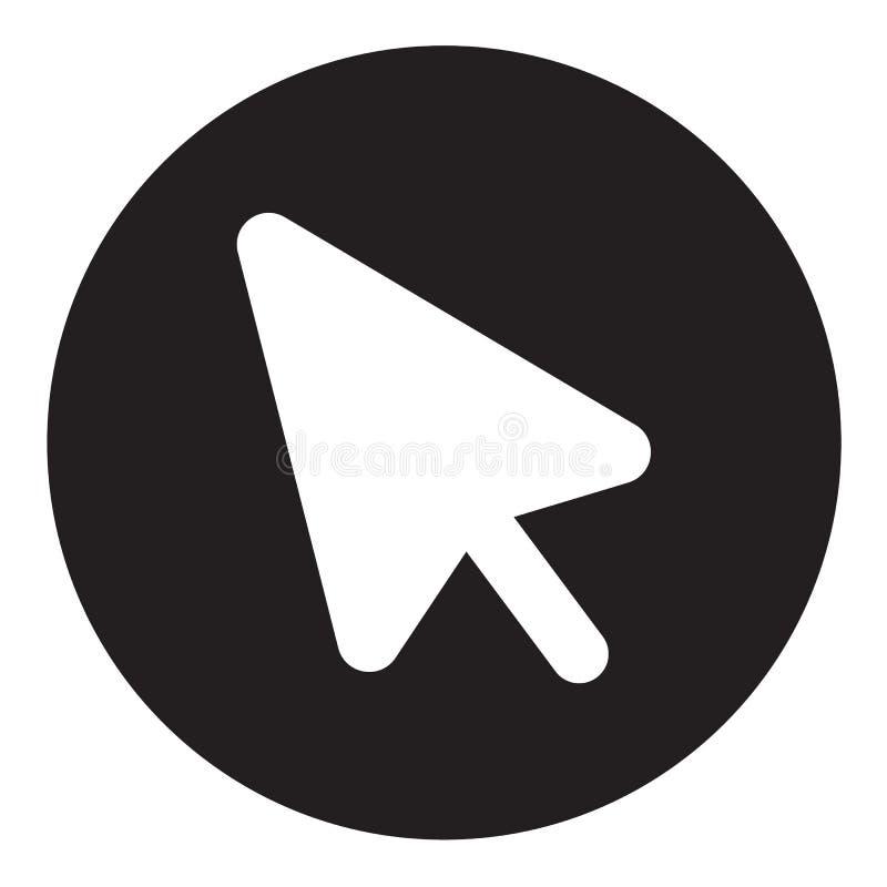 Значок курсора мыши на белой предпосылке Плоский стиль значок для вашего дизайна вебсайта, логотип курсора мыши, приложение, UI С бесплатная иллюстрация
