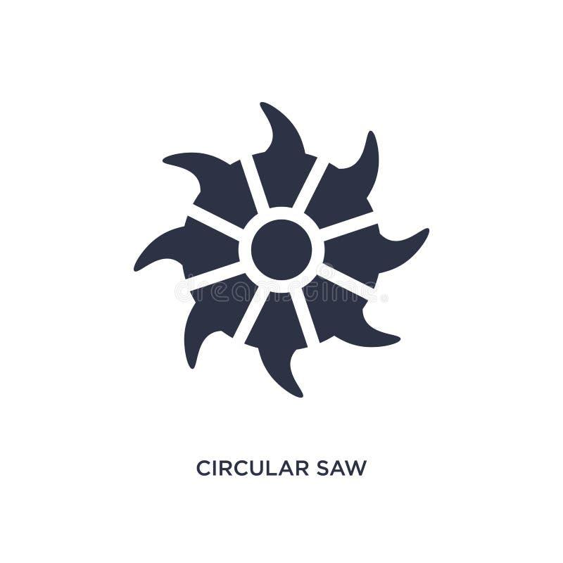 значок круглой пилы на белой предпосылке Простая иллюстрация элемента от концепции инструментов бесплатная иллюстрация