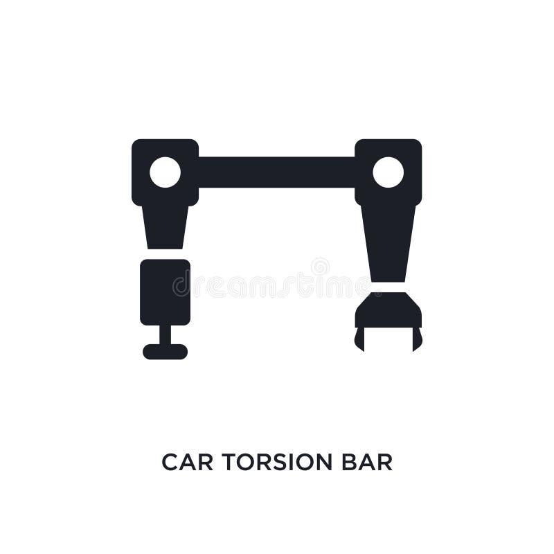 значок кручения автомобиля изолированный баром простая иллюстрация элемента от значков концепции частей автомобиля символ знака л иллюстрация вектора