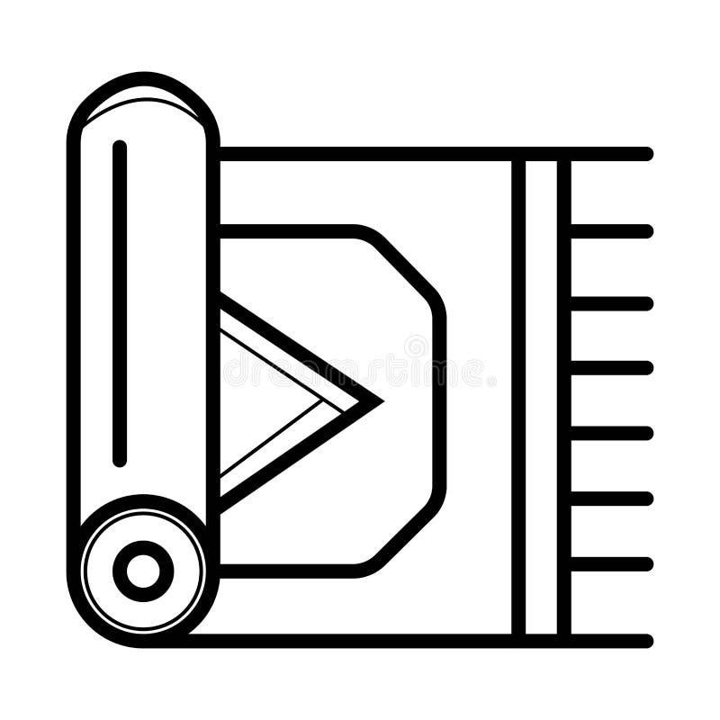 Значок ковра вектор иллюстрация вектора