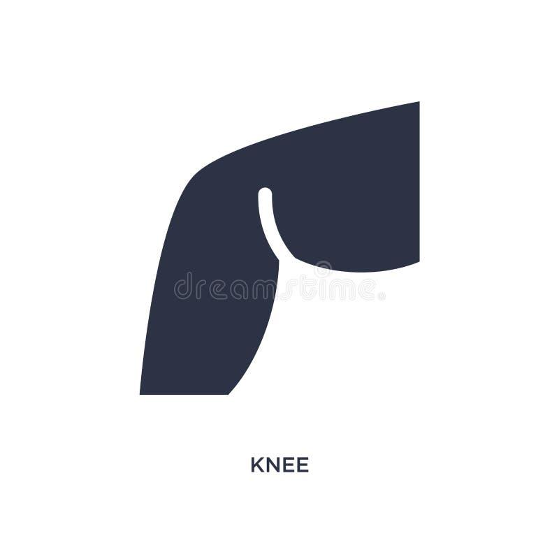 значок колена на белой предпосылке Простая иллюстрация элемента от медицинской концепции иллюстрация штока