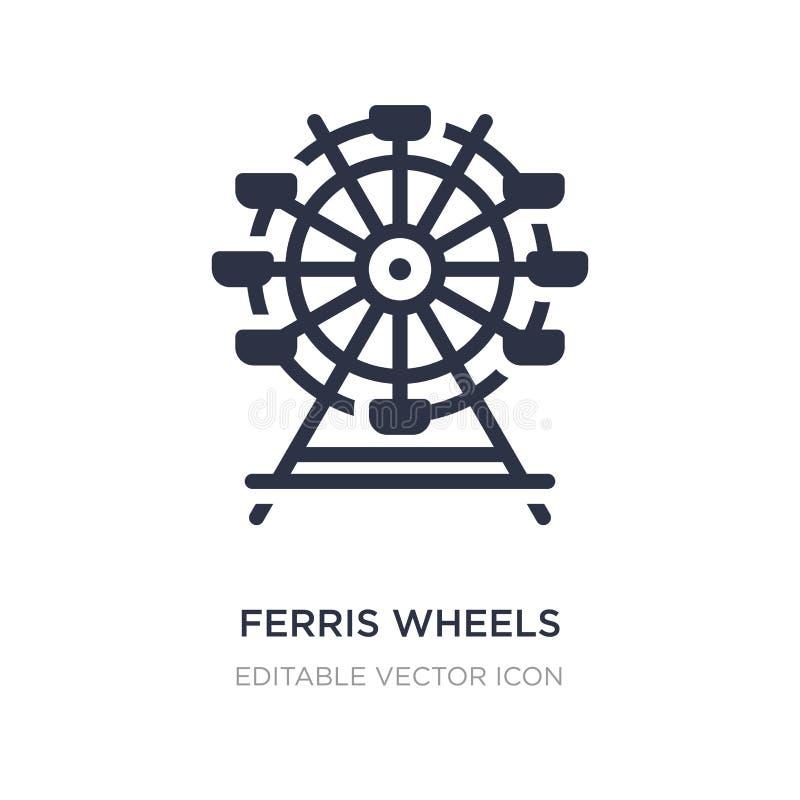 значок колес ferris на белой предпосылке Простая иллюстрация элемента от концепции дела бесплатная иллюстрация