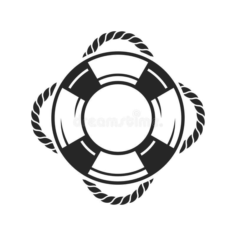 Значок кольца спасательного жилета иллюстрация вектора