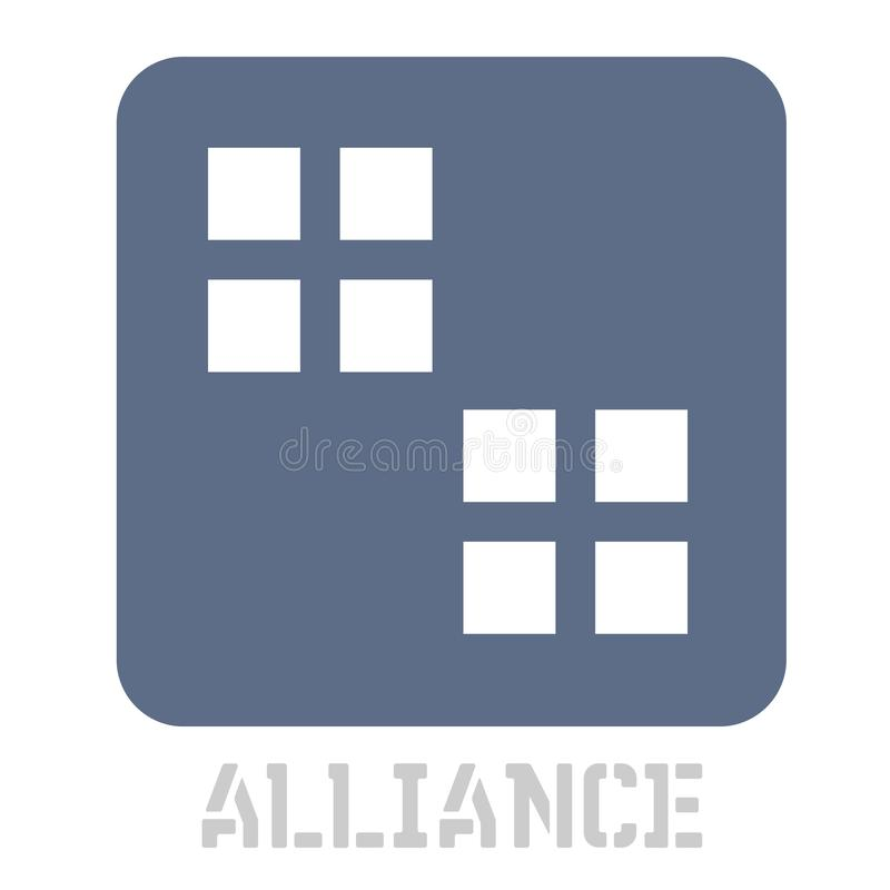 Значок концепции союзничества на белизне иллюстрация вектора