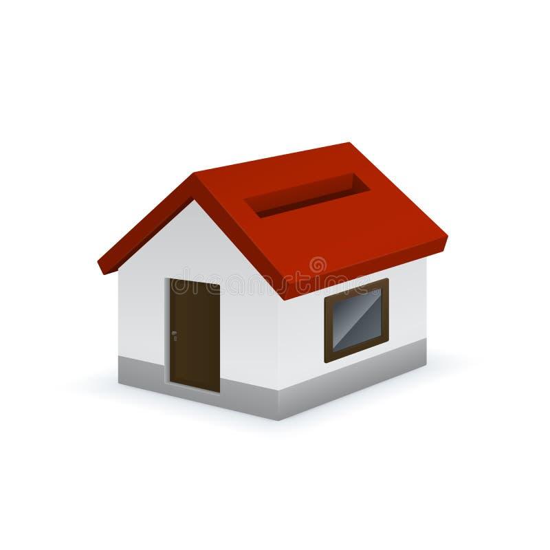 Значок копилки дома форменный иллюстрация вектора